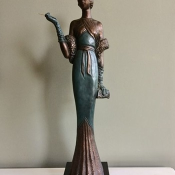 """Cocktail Party"" Female Statue by LeClerc - Fine Art"