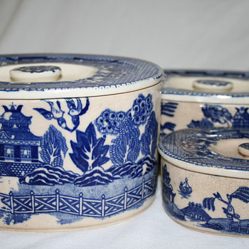Nesting canisters (?) made in Japan - China and Dinnerware