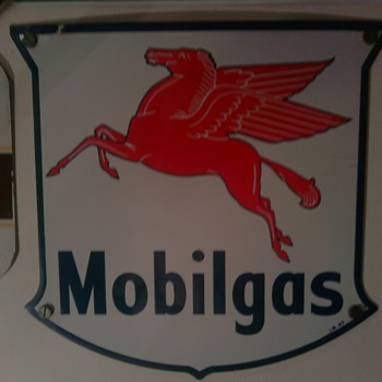 Mobilgas Sign dated I.R. 47 - Petroliana