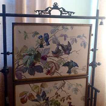 Inherited firescreen - can't find another like it!  - Furniture