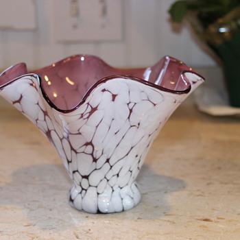 Art Deco Glass Vase - Art Glass