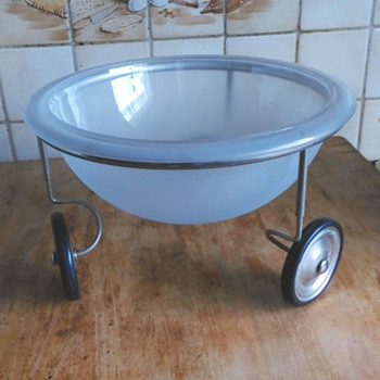 A Glass Bowl on Wheels for 60 Cents...What Is It? See Below! - Kitchen