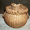 Sweet Grass and Ash Basket with Bentwood Rim,  1880-1900