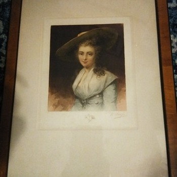 William Unger Signed Framed Color Etching - Posters and Prints