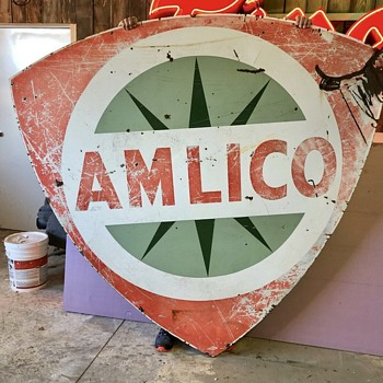 Amlico Porcelain Sign - Signs