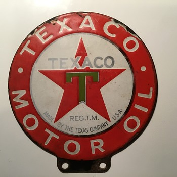 Texaco Paddle Motor oil sign 1920's  - Signs