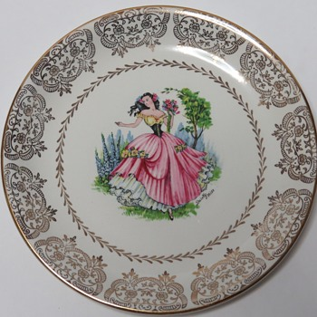 "Barratt's Delphatic White ""Dainty Miss"" side plate - China and Dinnerware"