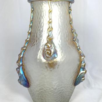 "Loetz ""Nautilus"" Vase. PN Unknown. 7"" Tall. Circa 1903 - Art Glass"