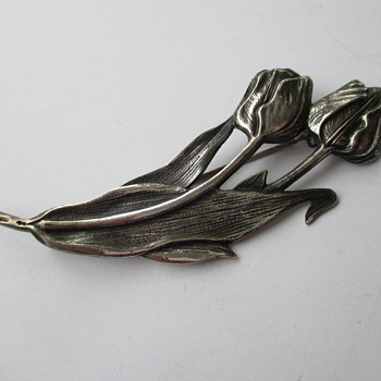 Sterling Tulips brooch - Fine Jewelry