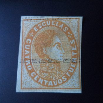 Venezuela Stamp 1871-75 (cancelled)