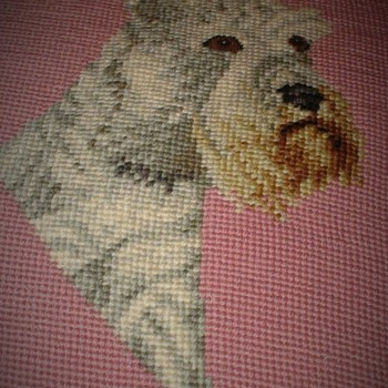 Vintage Dog Pillow Cover Mid Century (?) - Rugs and Textiles