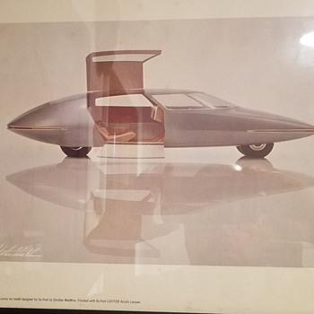 "1950 Strother MacMinn's ""Cars of Tomorrow"" print - Fine Art"