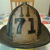 Vintage. Leather.   Fire Helmet