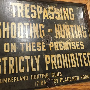 Lumber land hunting club NYC SIGN - Signs