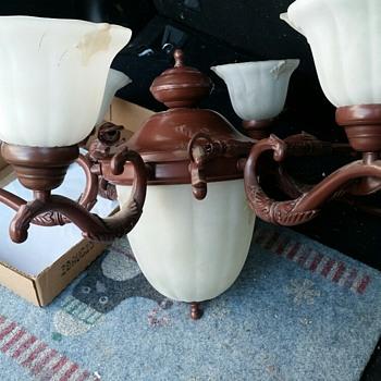 Chandelier with Acorn Globe - Lamps