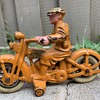 Vintage toy motorcycles