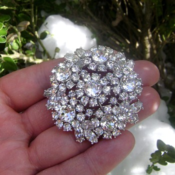 Crown Trifari Brooch - Contessa Collection - Costume Jewelry