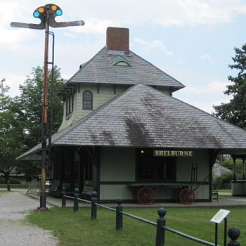 Shelburne Depot circa 1890s at the Amazing Shelburne Museum in VT - Railroadiana