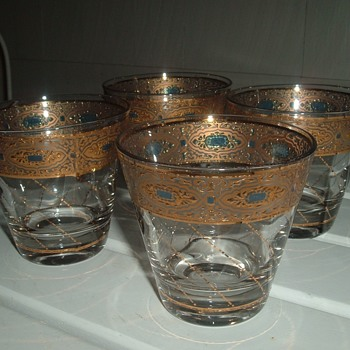 Nice set of vintage Culver Glass Old Fashioned Glasses