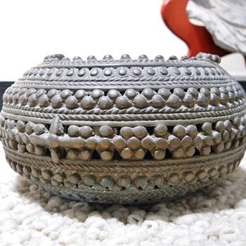 Antique Ornate Burma? Silver/ Bronze Slave Bracelet  HELP!!! - Asian