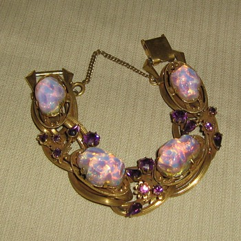 1950's or 60's opal imitation - Costume Jewelry