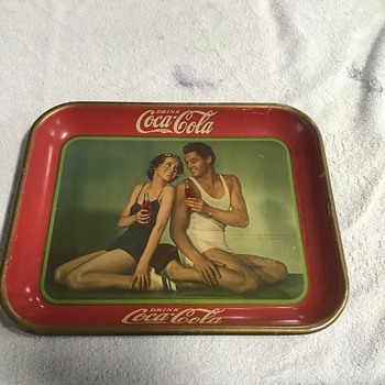 Coca cola tray  - Advertising