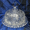 Cut Crystal Cake Plate and Dome - Possible American Brilliant Period?