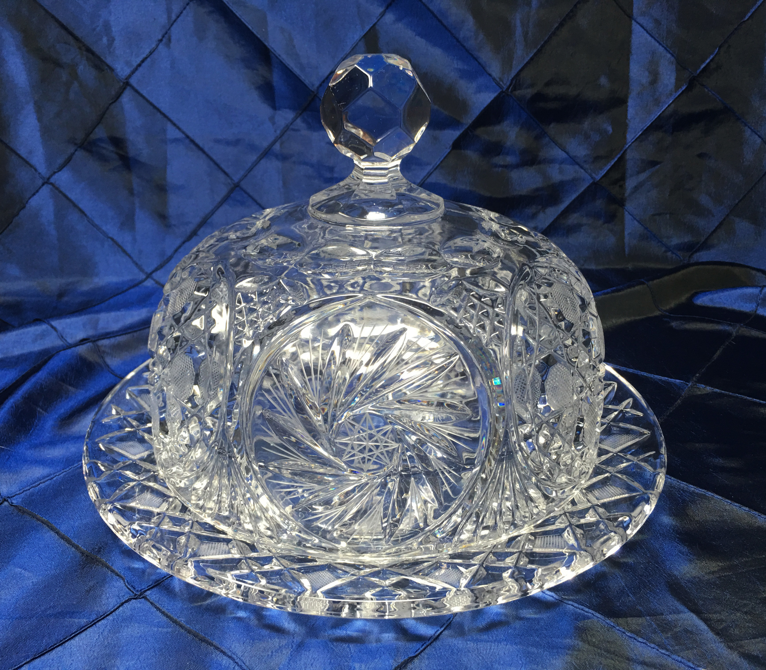 Cut Crystal Cake Plate and Dome - Possible American Brilliant Period? | Collectors Weekly & Cut Crystal Cake Plate and Dome - Possible American Brilliant Period ...