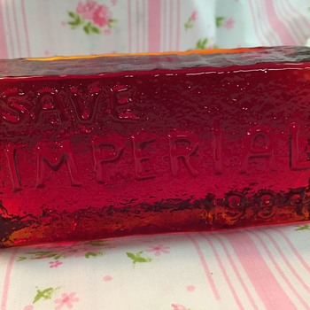 Save Imperial 1984, Glass Paperweight - Glassware