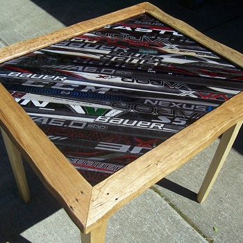 Hockey stick display table - Furniture
