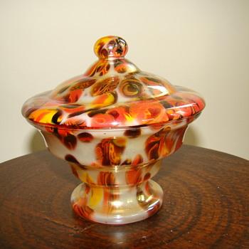 Wilhelm Kralik lidded box - Art Glass