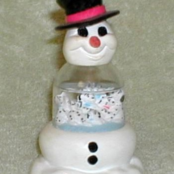 "1996 - ""101 Dalmatians"" Snowman Snow Dome Ornament - Christmas"