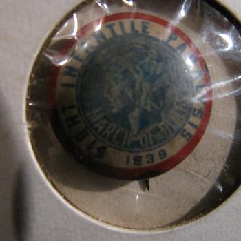 1939 Fight Infantile Paralysis Lapel Button