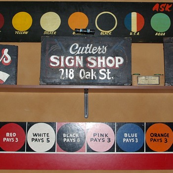 Sign painter's tools of the trade--walking signs - Signs