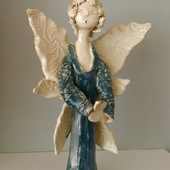 Pottery angel