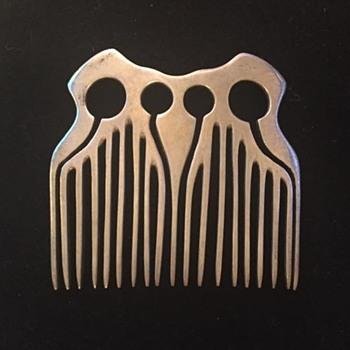 Silver comb (?Secessionstil ?Brutalist)  - Art Nouveau
