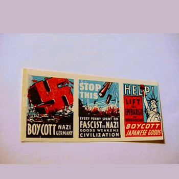 United States. Protest / Boycott / Cinderella / Poster / Stamps. MNH. Set of 3 - Politics