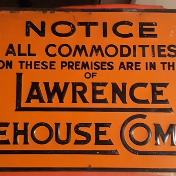 Lawrence Warehouse Company Lawrence System Vintage Sign  - Signs