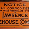 Lawrence Warehouse Company Lawrence System Vintage Sign