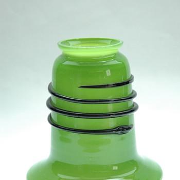 loetz green tango lampshade by michael powolny. - Art Nouveau