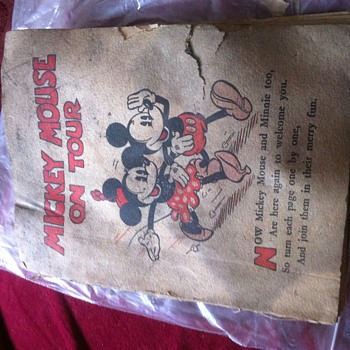 Mickey Mouse on tour book