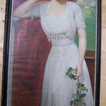 Maxine Elliott Brown Shoe Co. Advertising 1910 litho - Advertising
