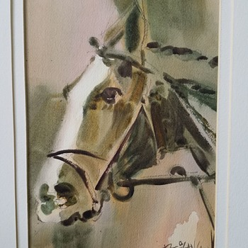Watercolor painting of a Horse.... - Fine Art