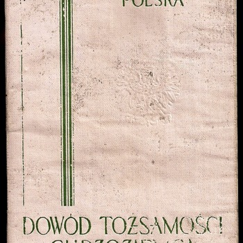1939 Polish STATELESS passport/travel document