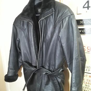 WILSON'S black leather jacket - Mens Clothing