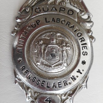 Winthrop Laboratories Guard Badge - Medals Pins and Badges