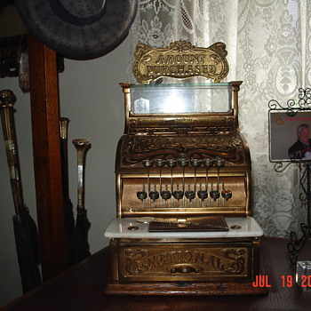 National Cash Register... Model 130...With Top Sign...From 1896 - Coin Operated