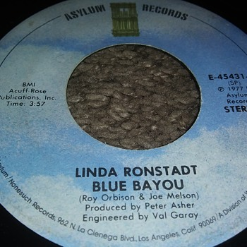 Linda Ronstadt...On 45 RPM Vinyl - Records