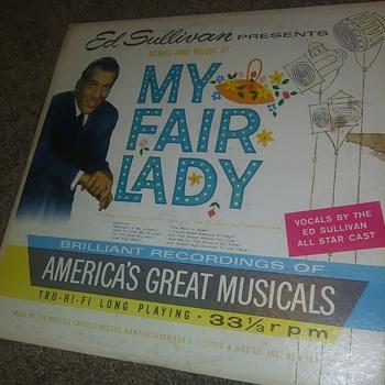 Ed Sullivan Presents..'My Fair Lady'...On 33 1/3 RPM Vinyl - Records