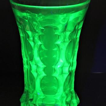 Uranium Glass Vase - Glassware